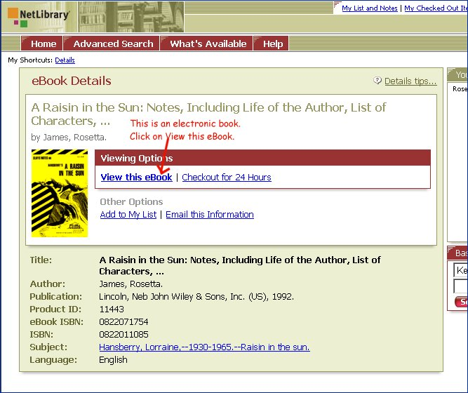 The netlibrary view of the book.  Click View this eBook to view it.